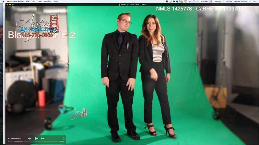2016 BLOOPER VIDEO - Agent San Francisco's commercial bloopers. 415-796-0086